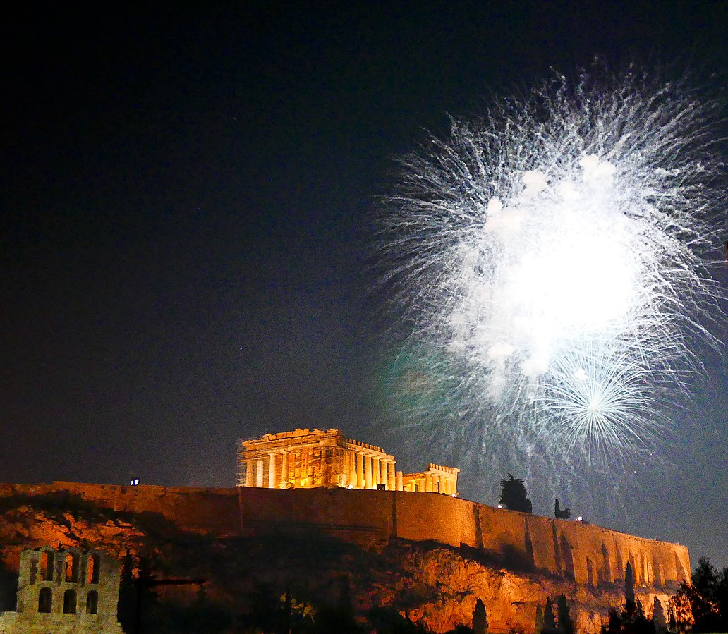 Fireworks in Athens