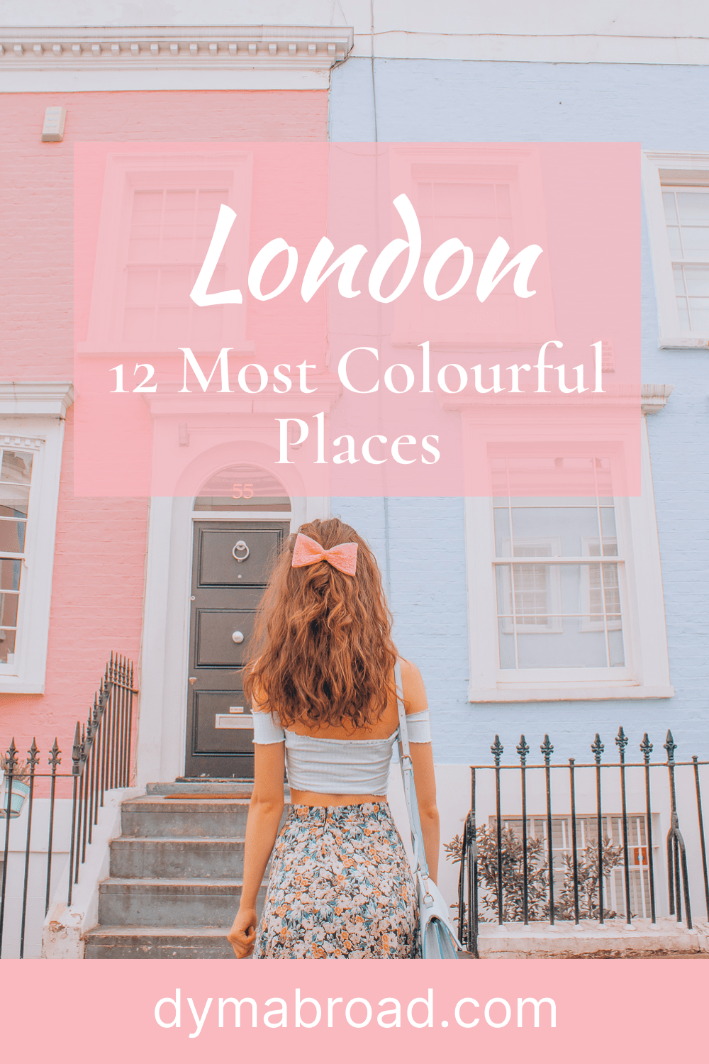 Most colourful places in London Pinterest image