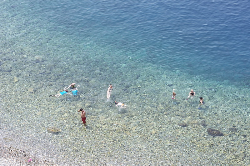People swimming in Hydra