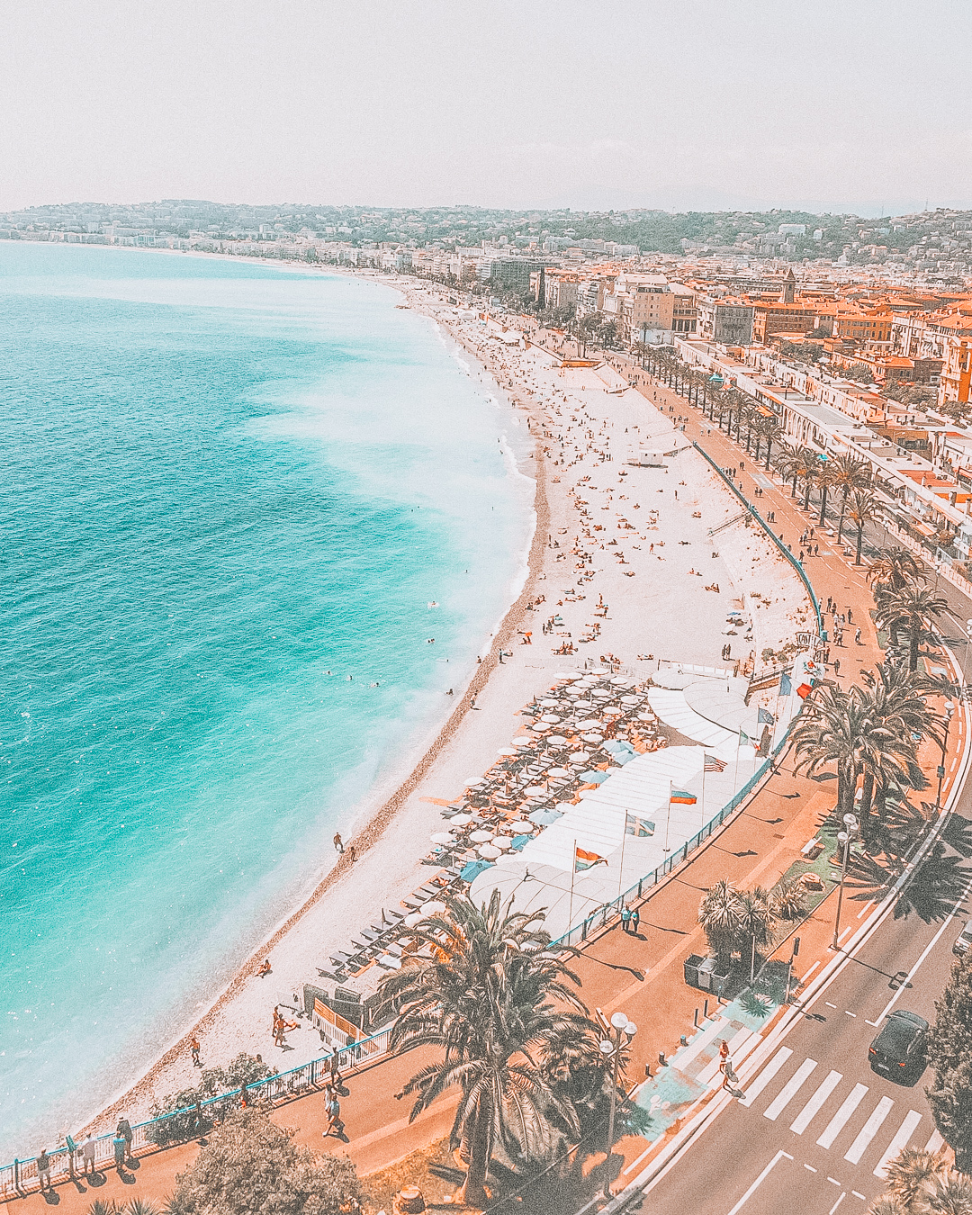 View of Promenade des Anglais in Nice
