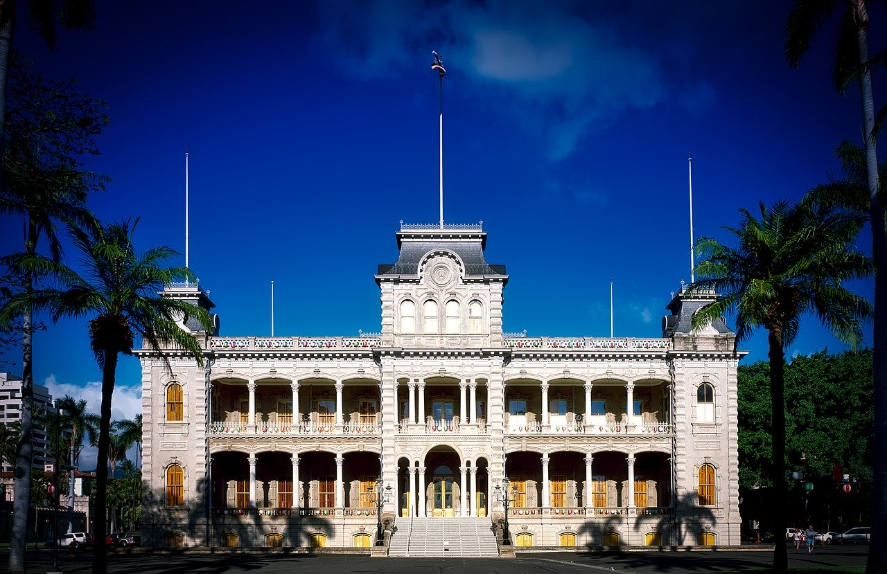 Front of the Iolani Palace