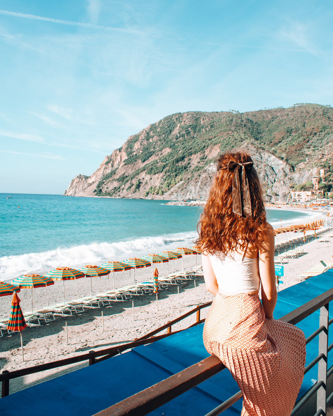 Overlooking Eden Beach in Monterosso al Mare
