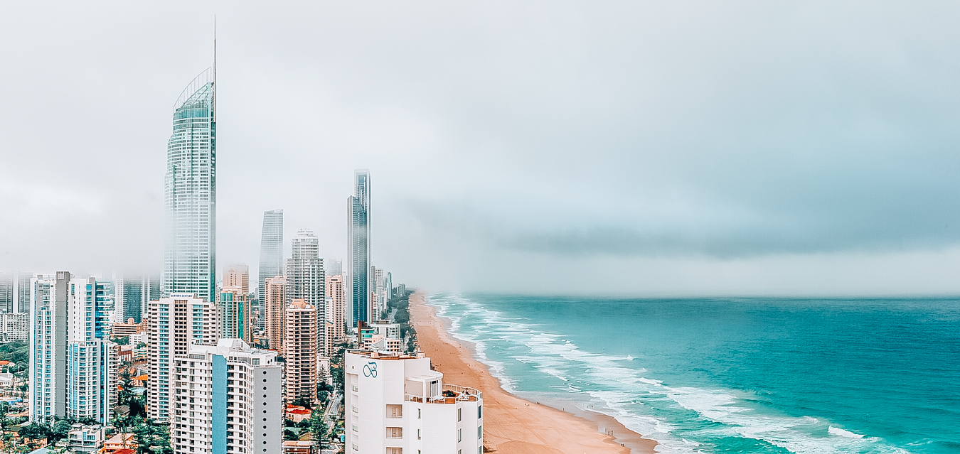 Gold Coast from above with Skypoint visible