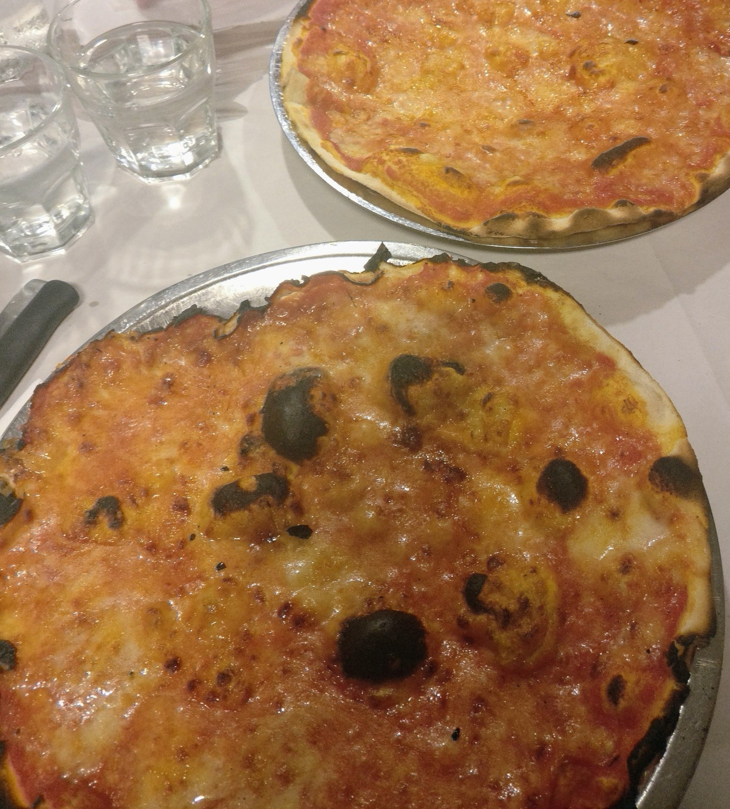 Pizza in Rome at night