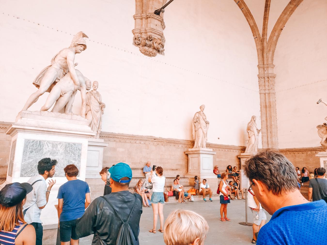 Statues on Piazza della Signoria