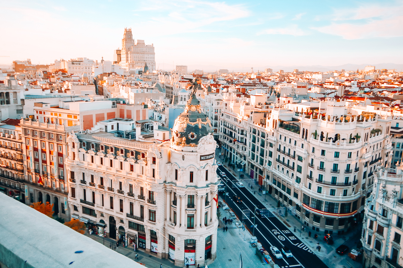 Street in Madrid from above