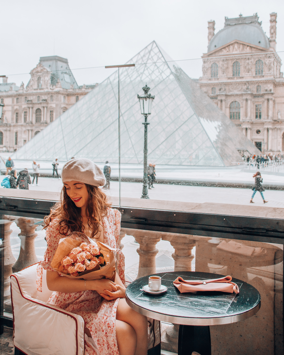 Cafe in Paris at the Louvre