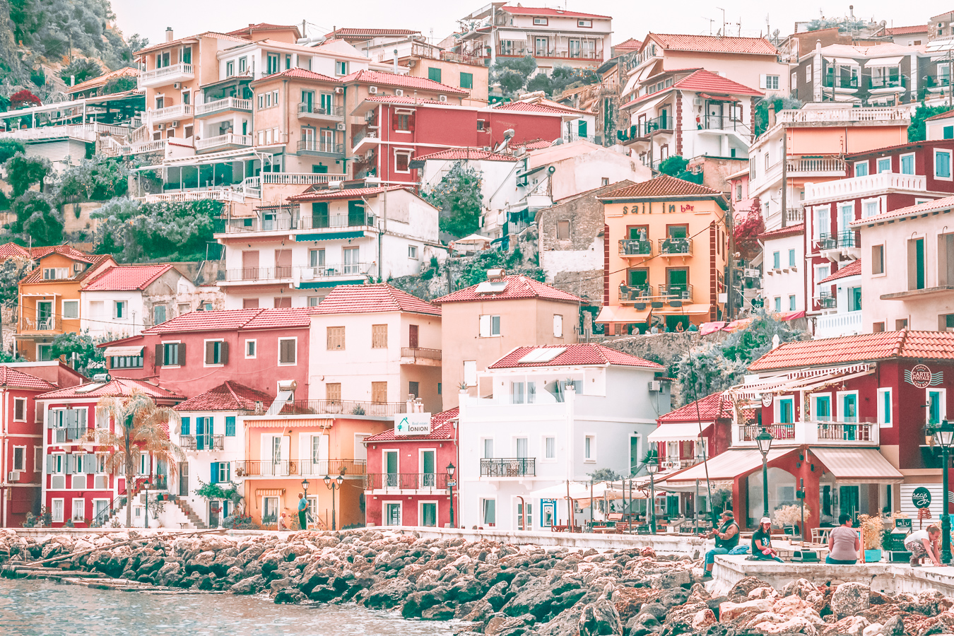 Colorful houses in Parga, Greece