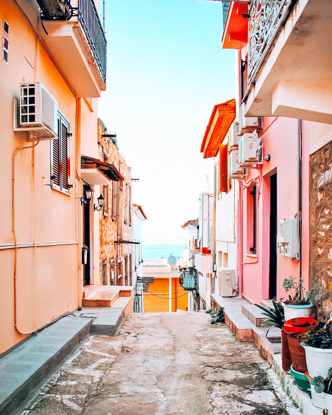 Street in Nafplio, Greece