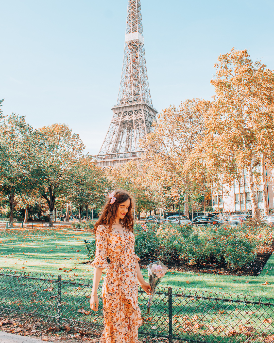 Fall in the city of Paris