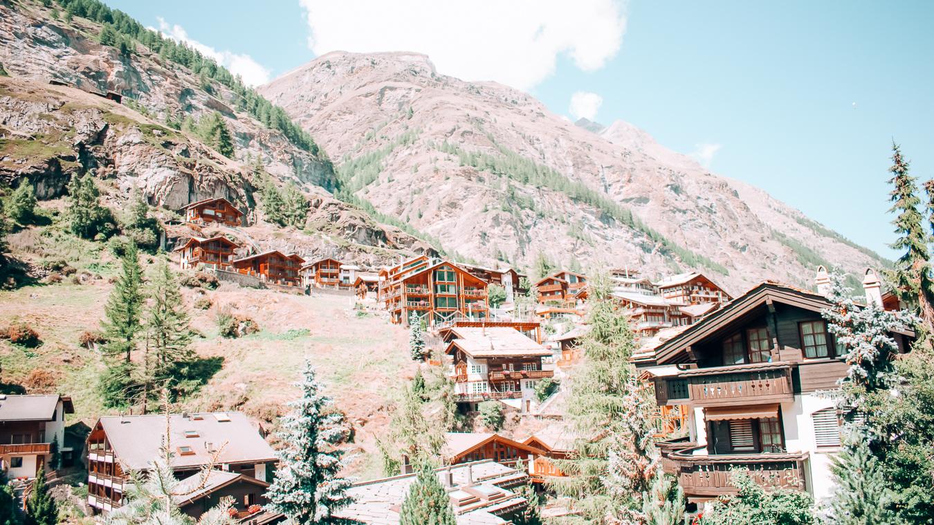 Many buildings in Zermatt