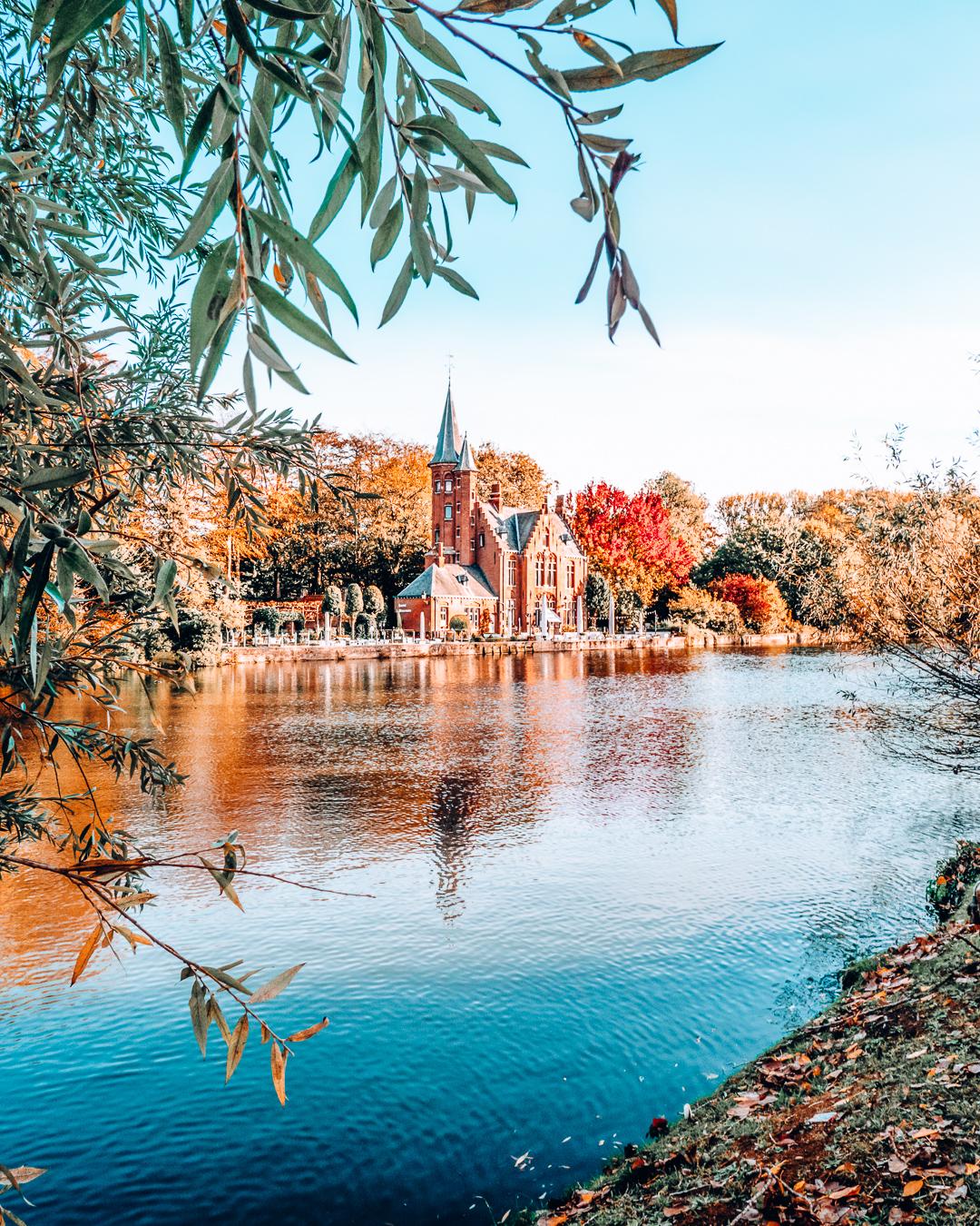 Fall in a city in Belgium