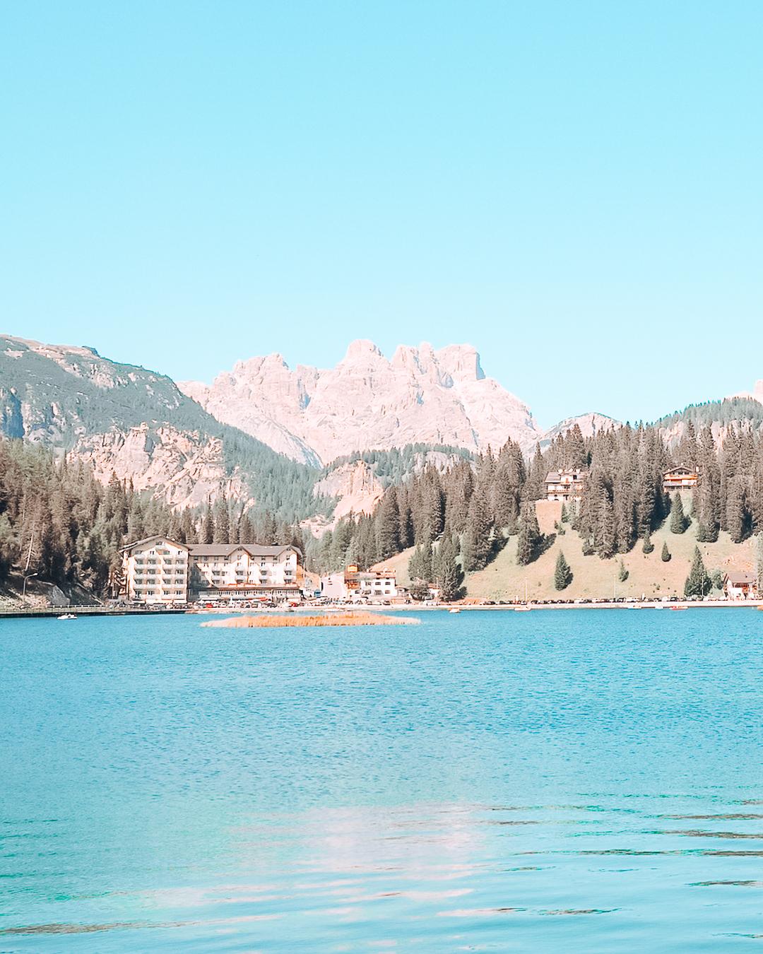 A view of Lake Misurina