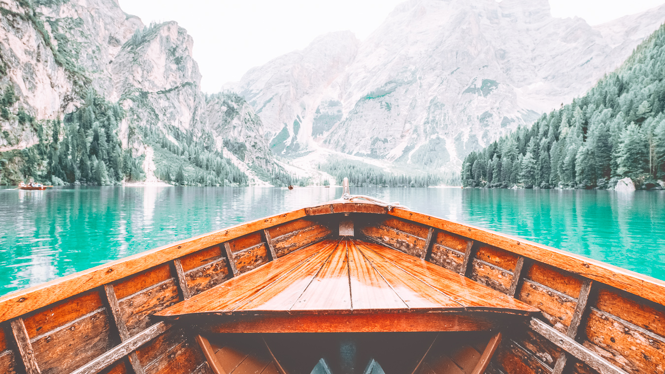 Lake Braies from a boat