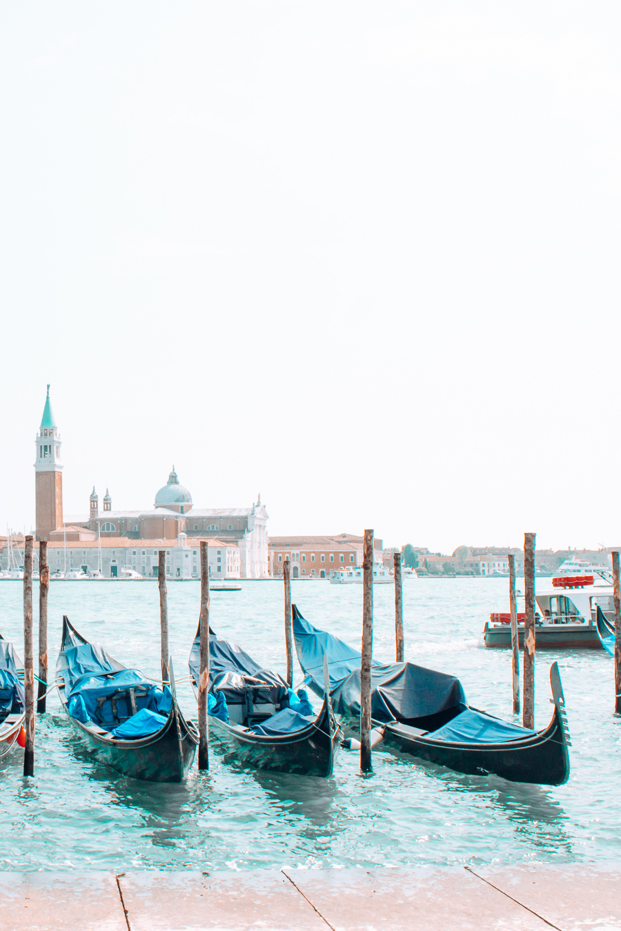 Gondolas in the beautiful city of Venice