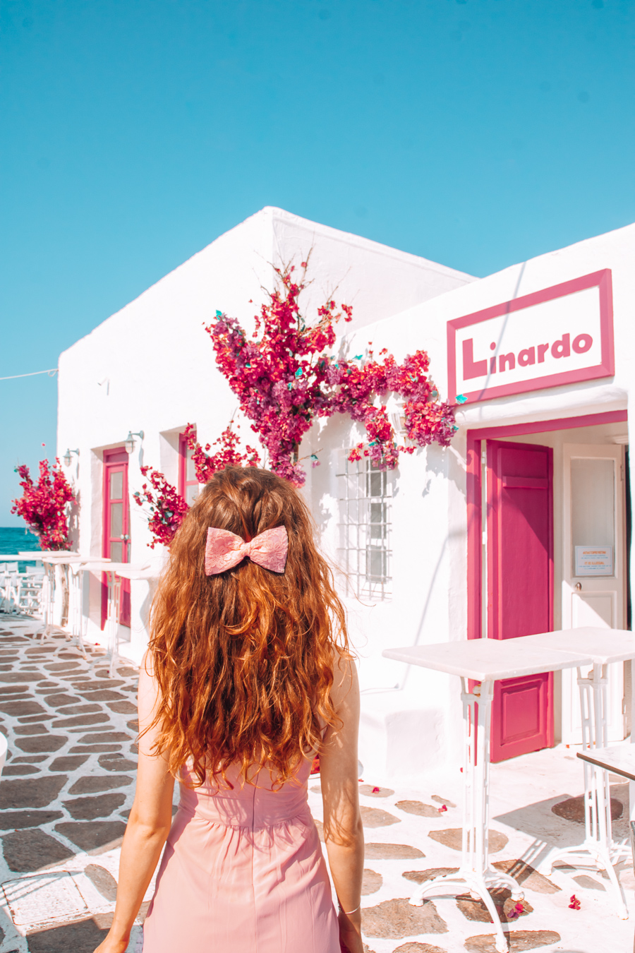 A colorful bar in Paros