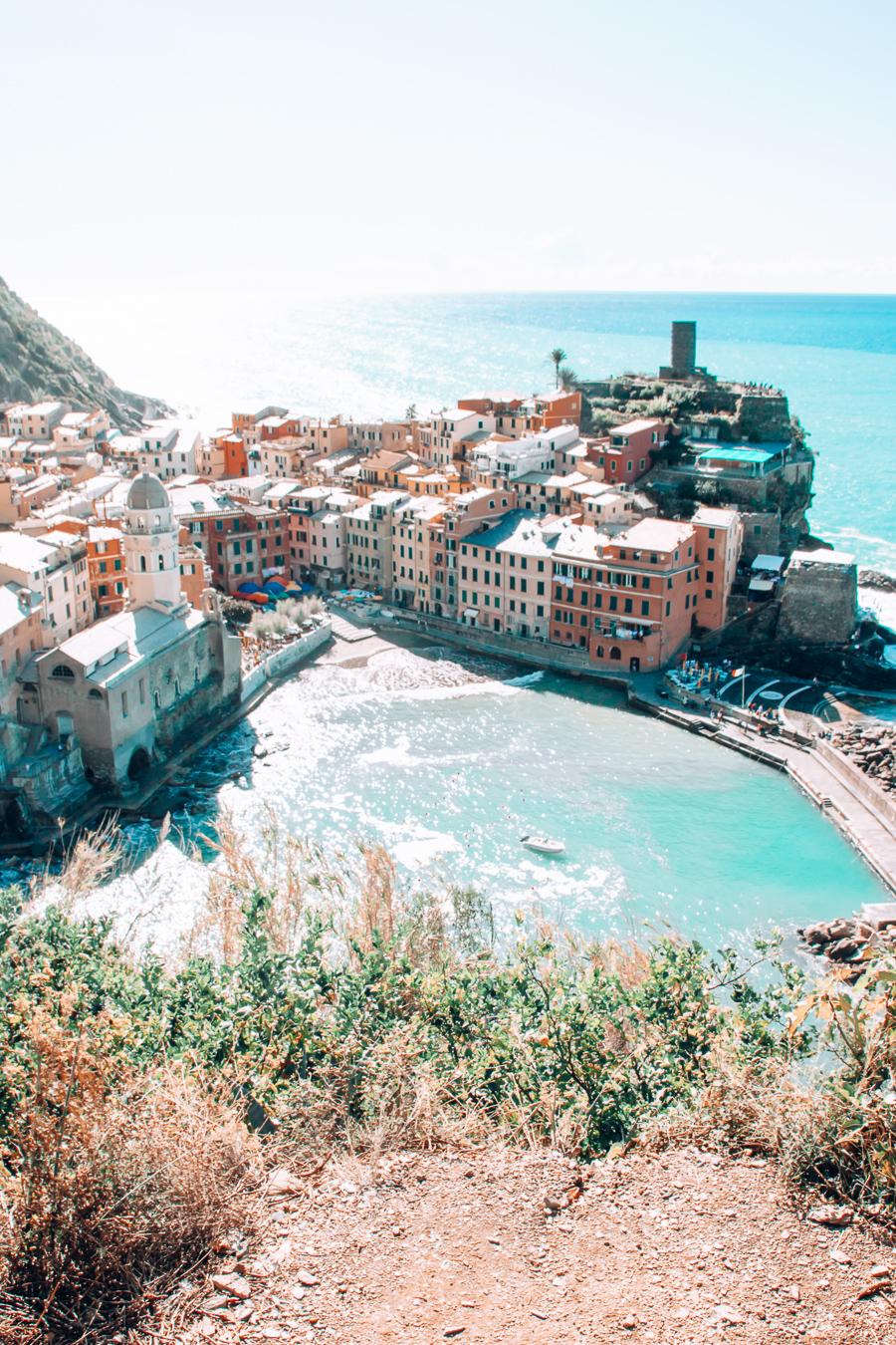 View of Vernazza in Cinque Terre