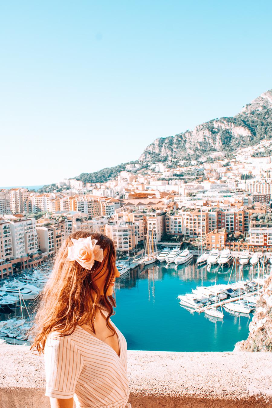 A girl in Monaco