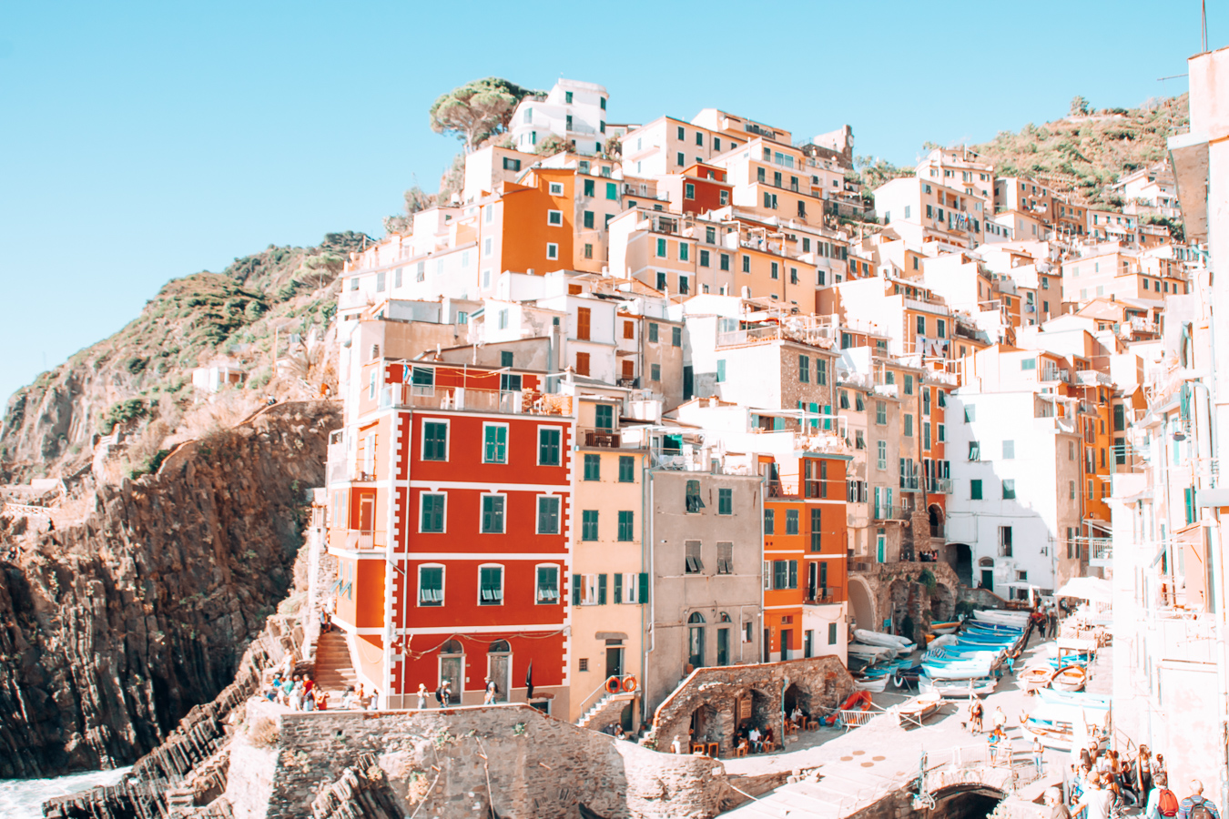 Colorful houses in Riomaggiore