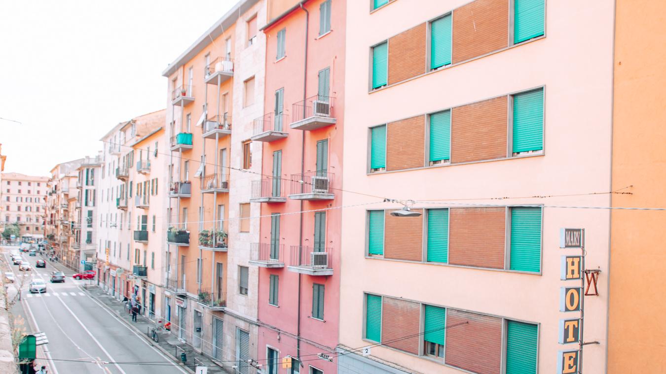 Colorful buildings in La Spezia