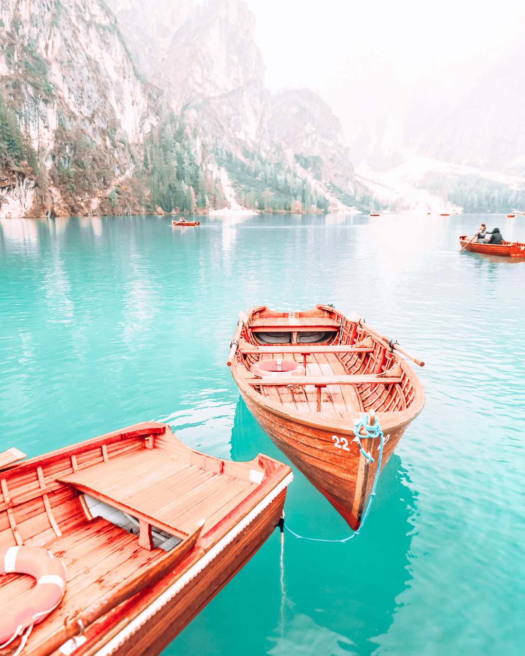 A boat in the Dolomites