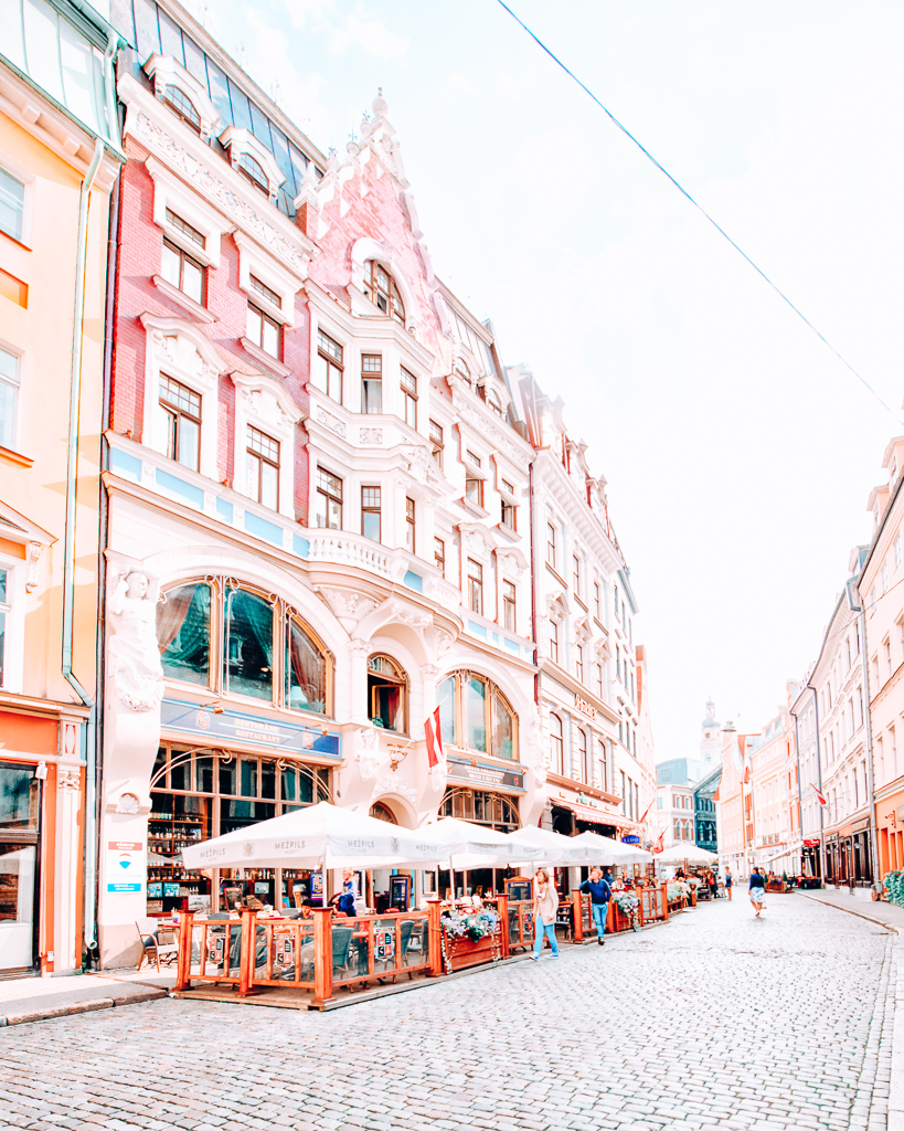 Colorful buildings in Riga