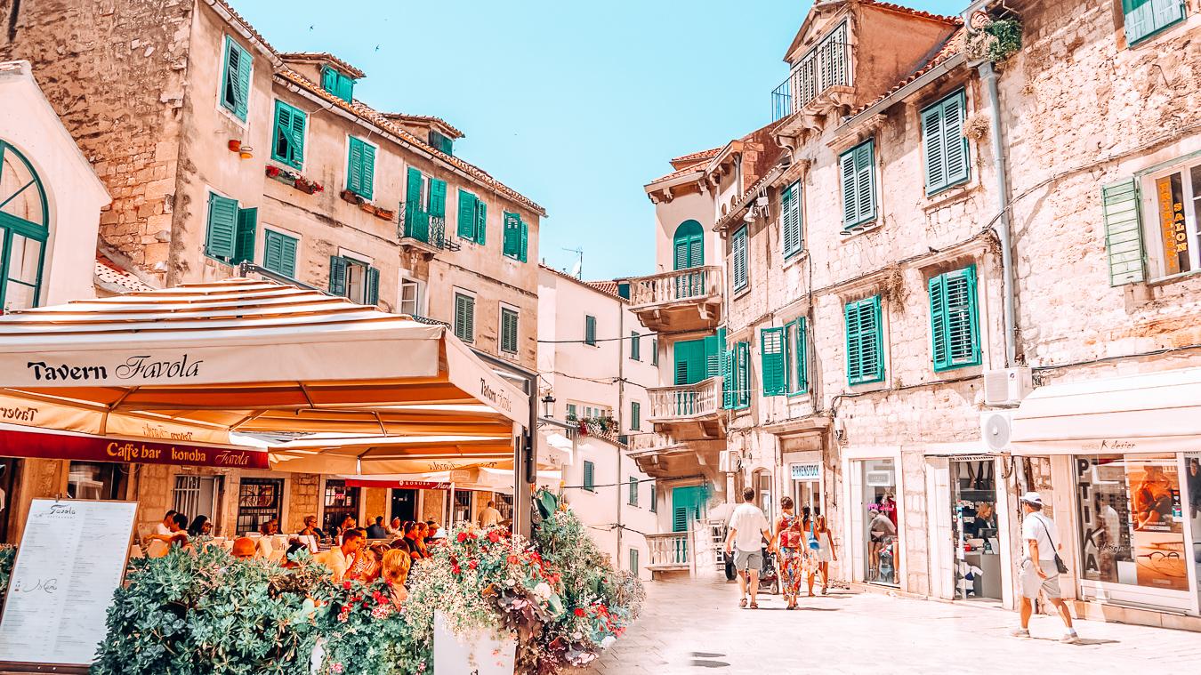 A beautiful street in the European city Split