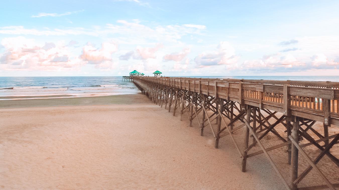 Folly Beach and its pier