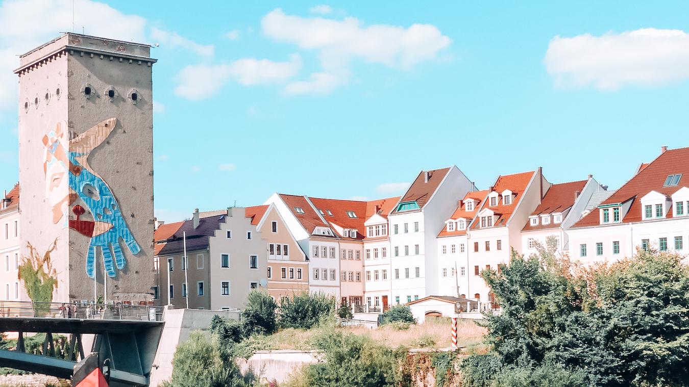 Buildings in Germany's medieval town Görlitz