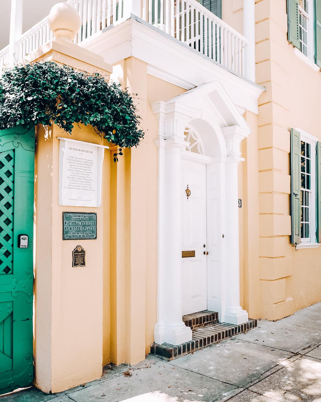Thomas Rose House in Charleston