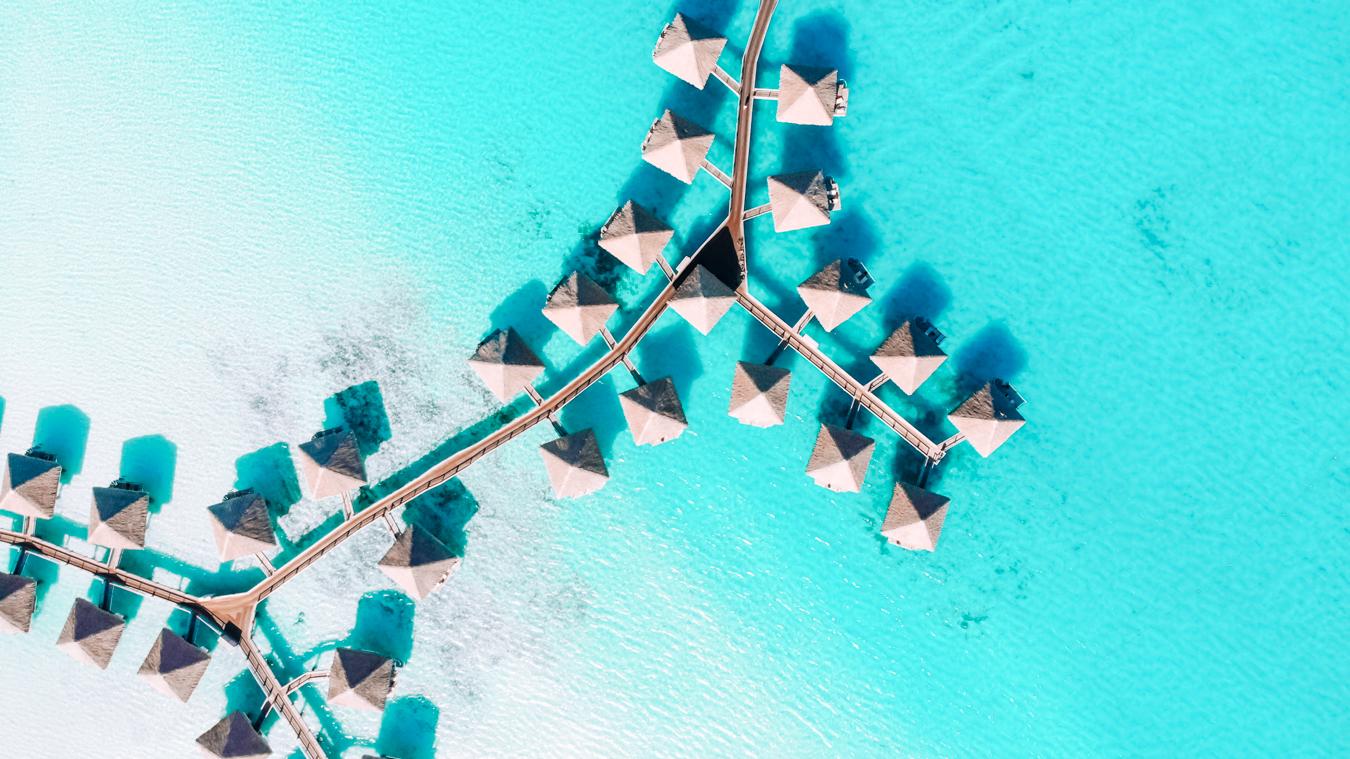 Resort in Bora Bora from above