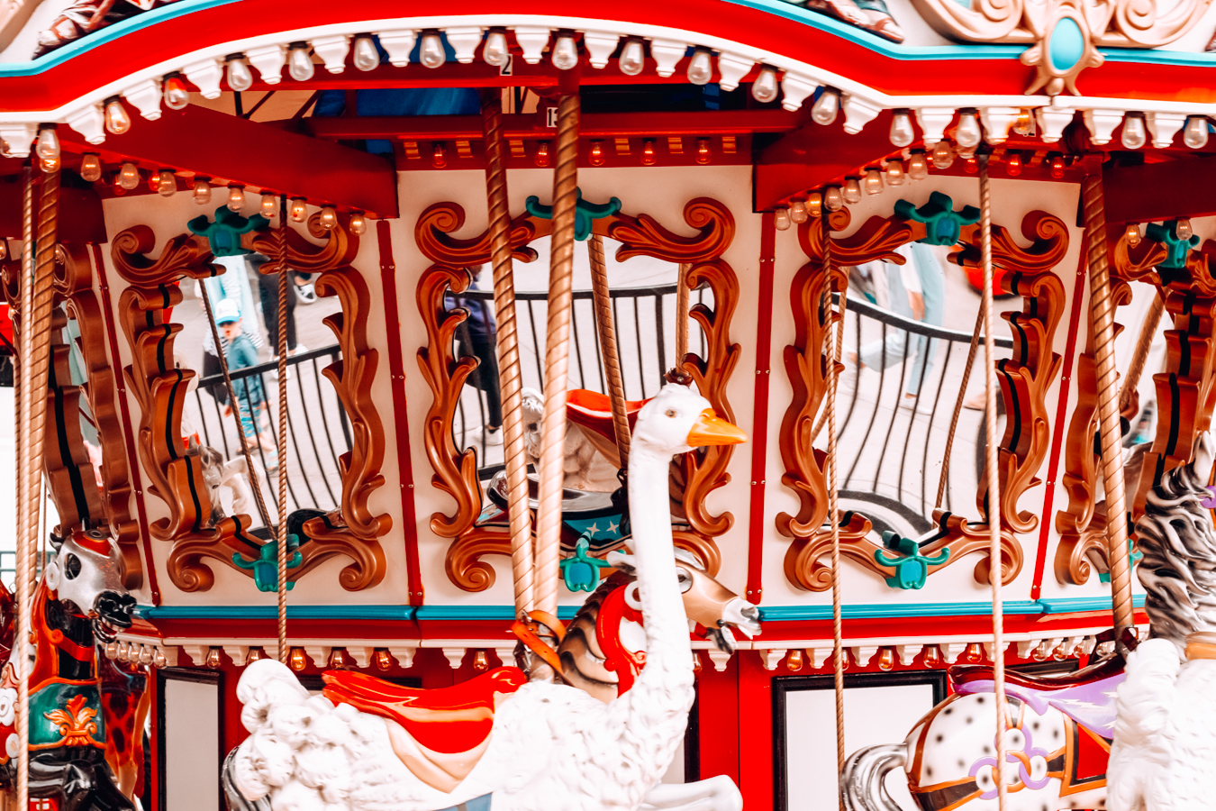 Colorful and Instagrammable carousel in San Diego