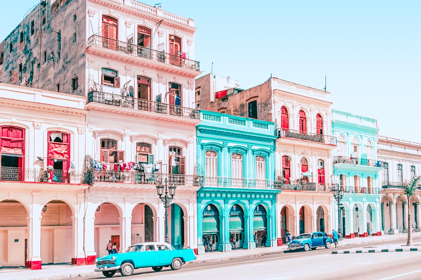 Instagrammable buildings in Havana