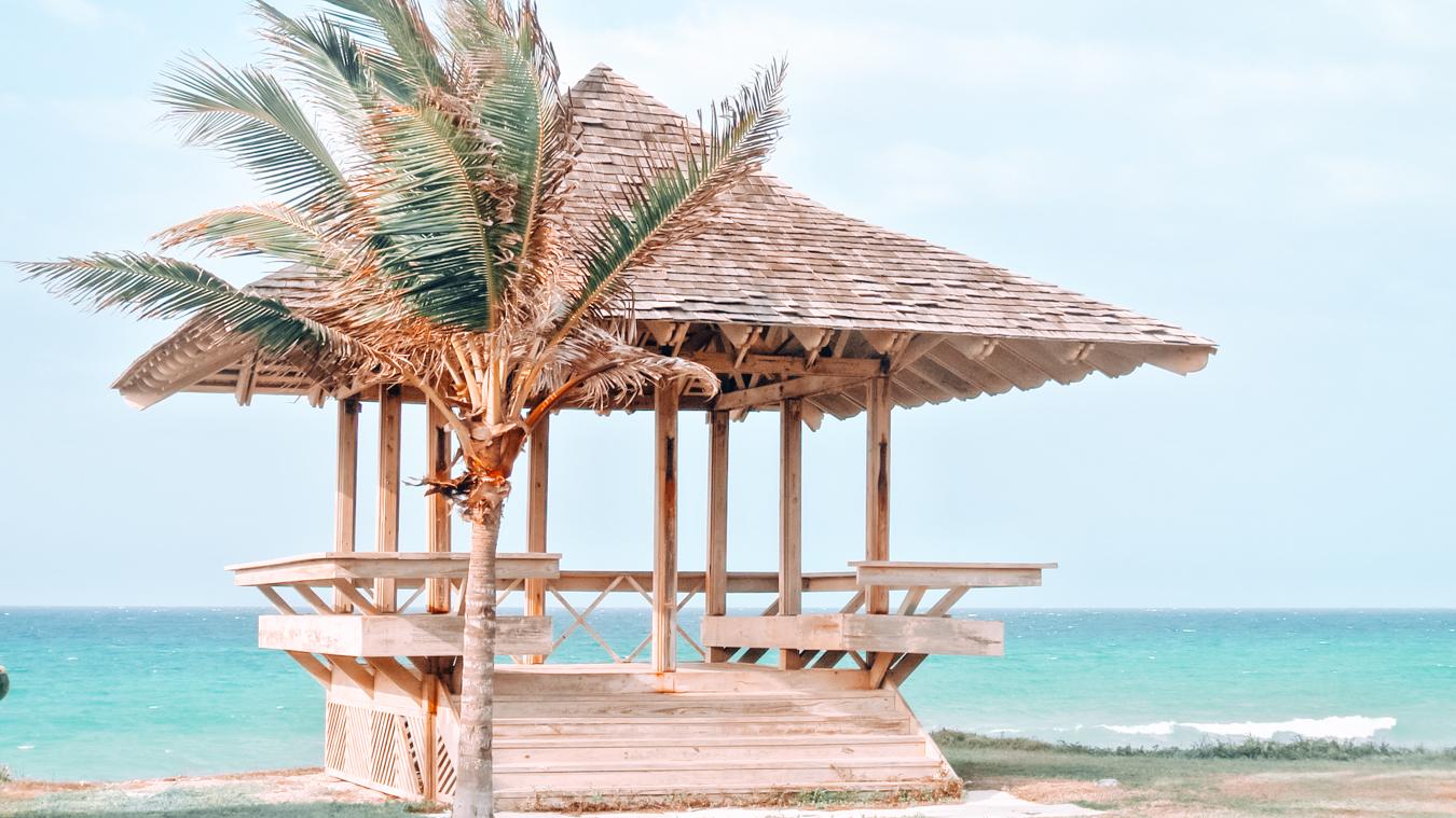 Beach hut in Jamaica