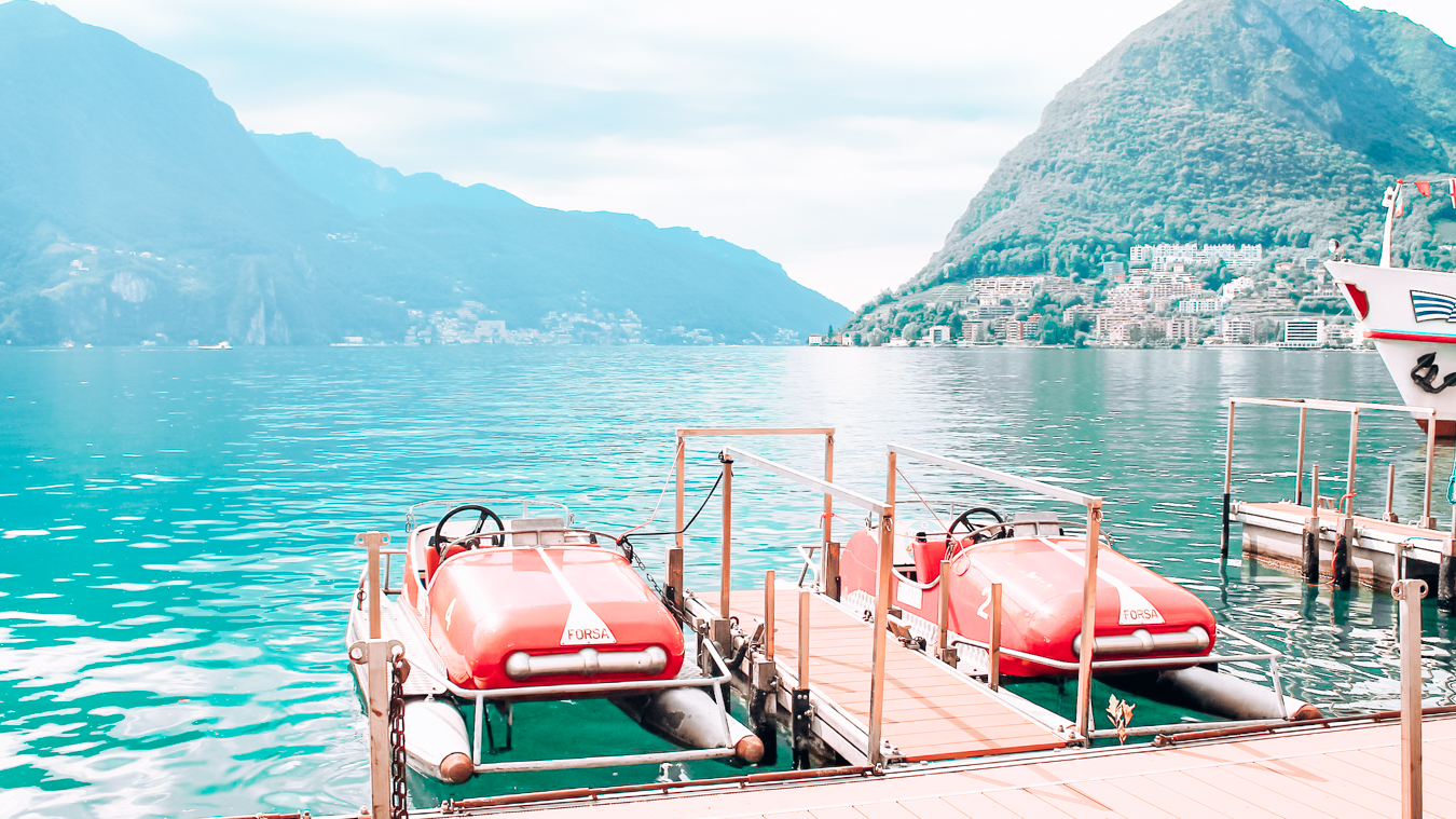 Boats at Lake Lugano