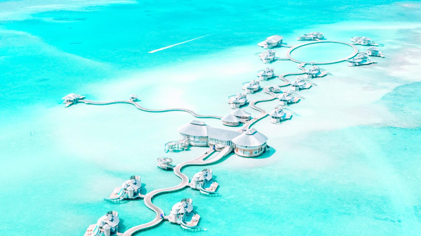 A beautiful resort in the Maldives