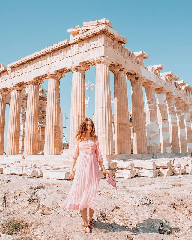 Girl at the Acropolis in Athens
