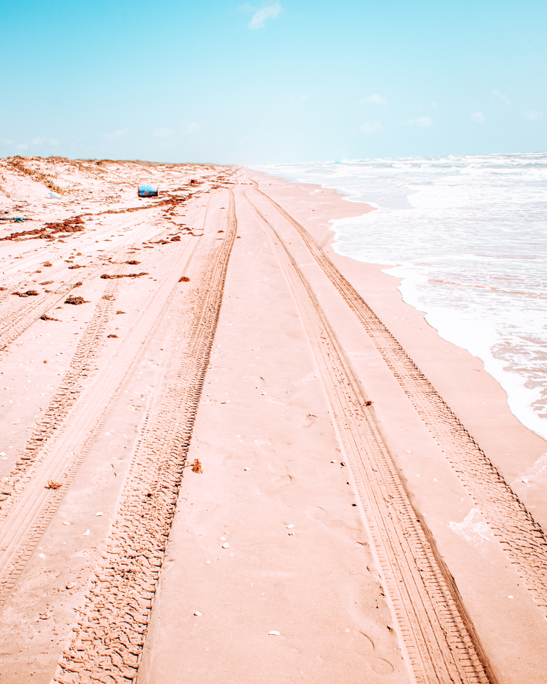 Beach in North Padre Island in Texas