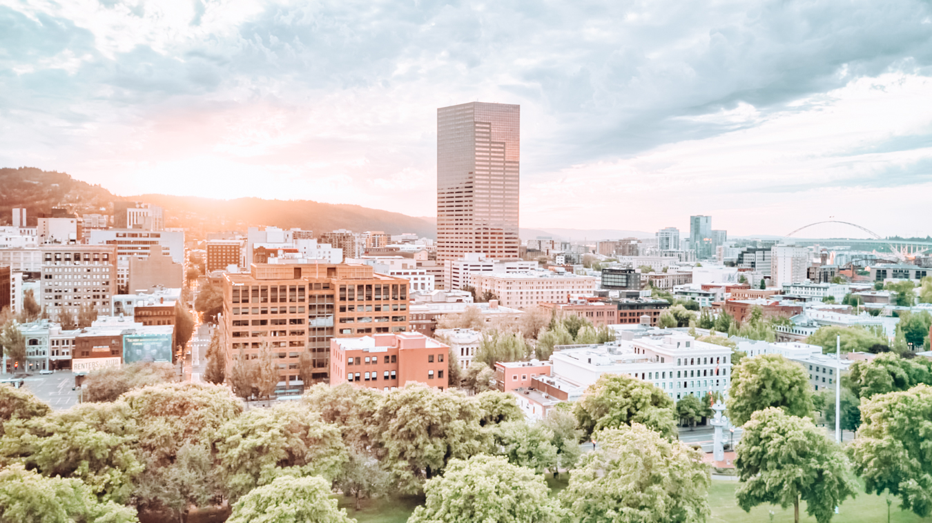 Buildings and trees in Portland