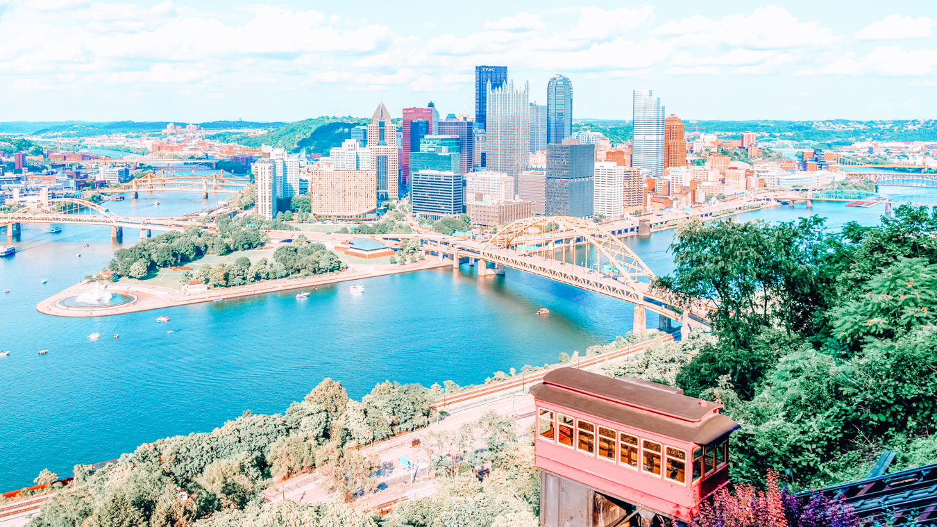 Duquesne Incline and a view of Pittsburgh