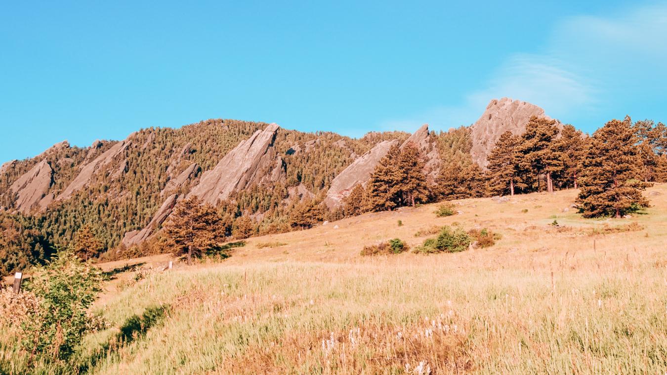 The Flatirons in Boulder