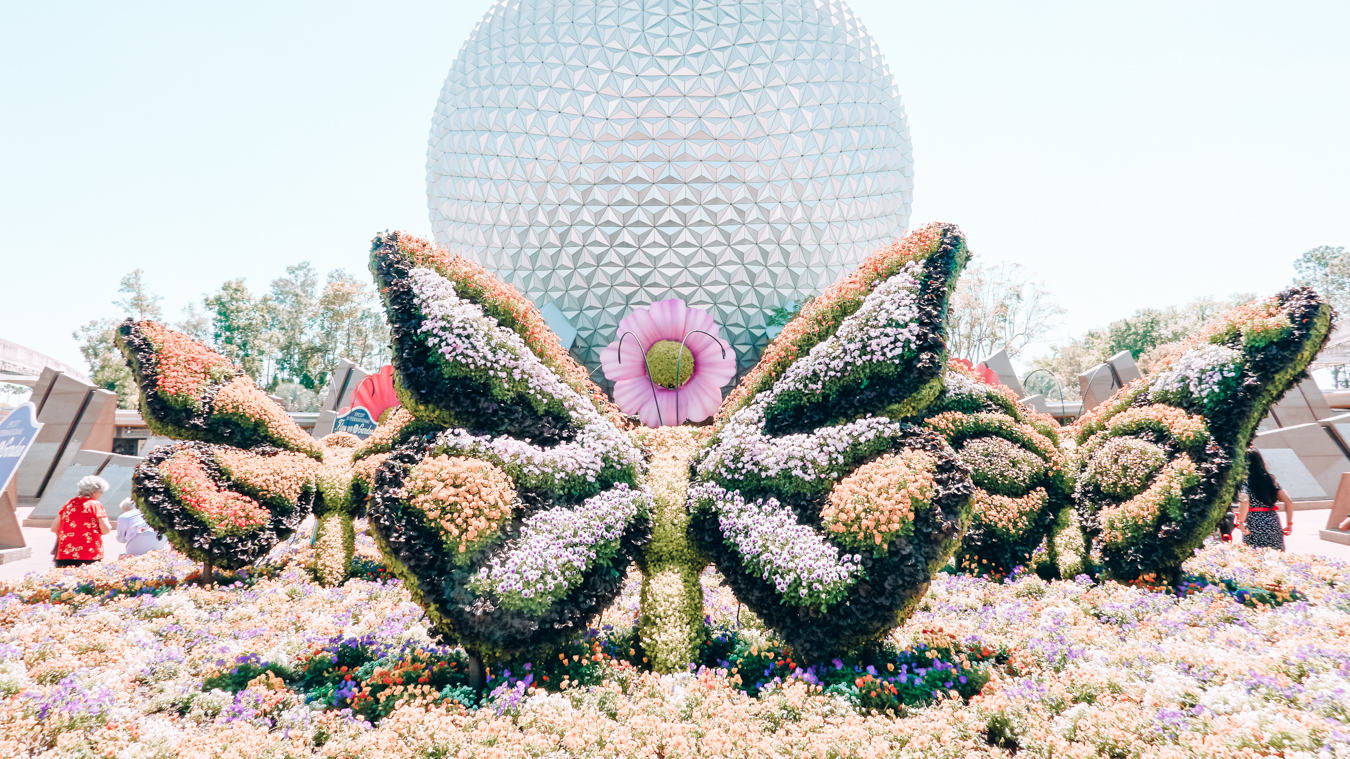 Instagrammable plant sculptures at Epcot in Orlando