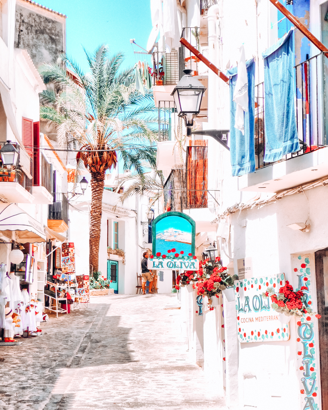 Instagrammable street in Ibiza