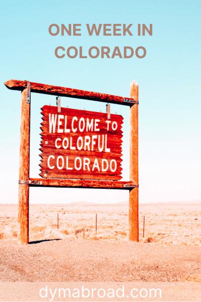 One week in Colorado Pinterest image