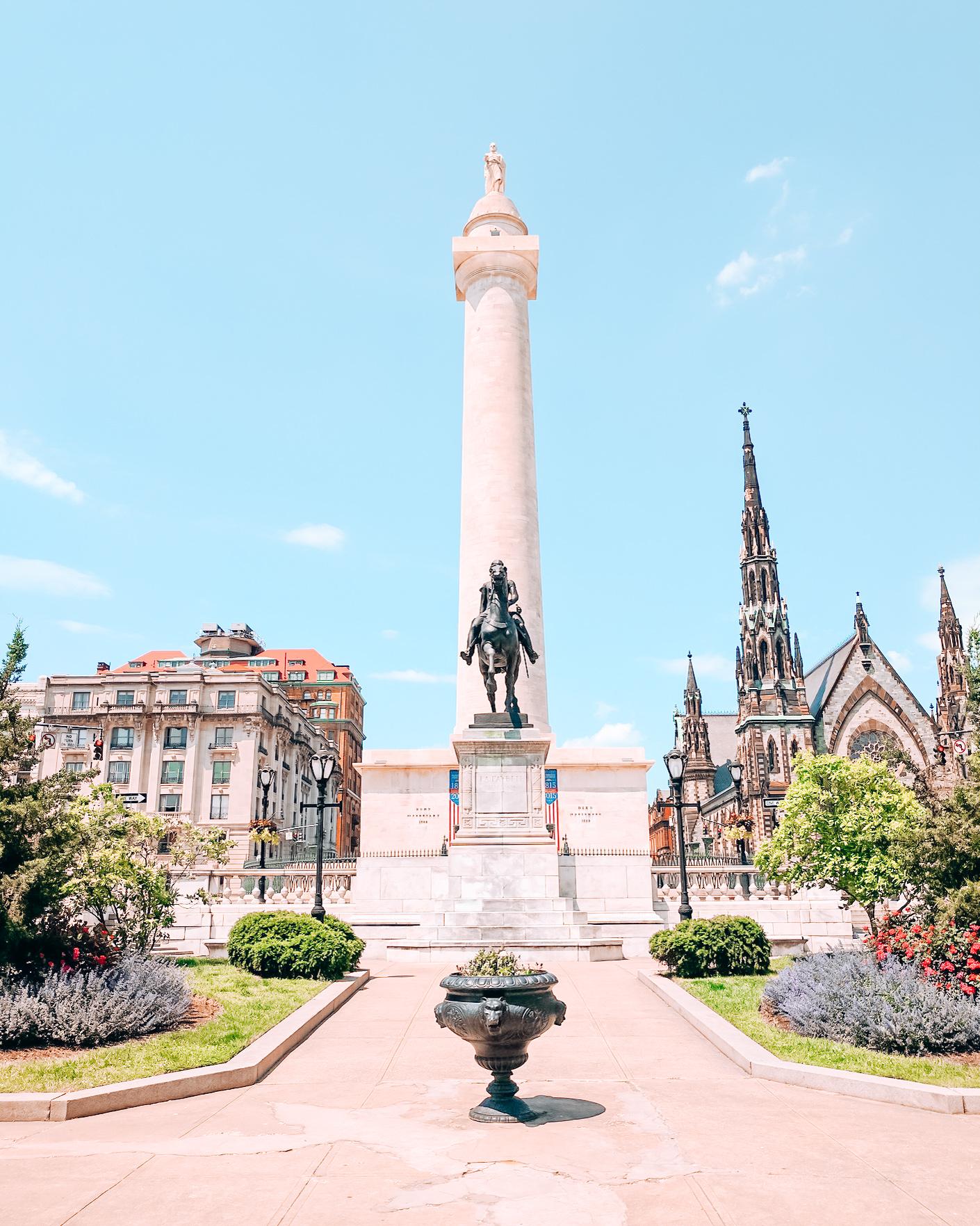 Washington Monument in Baltimore