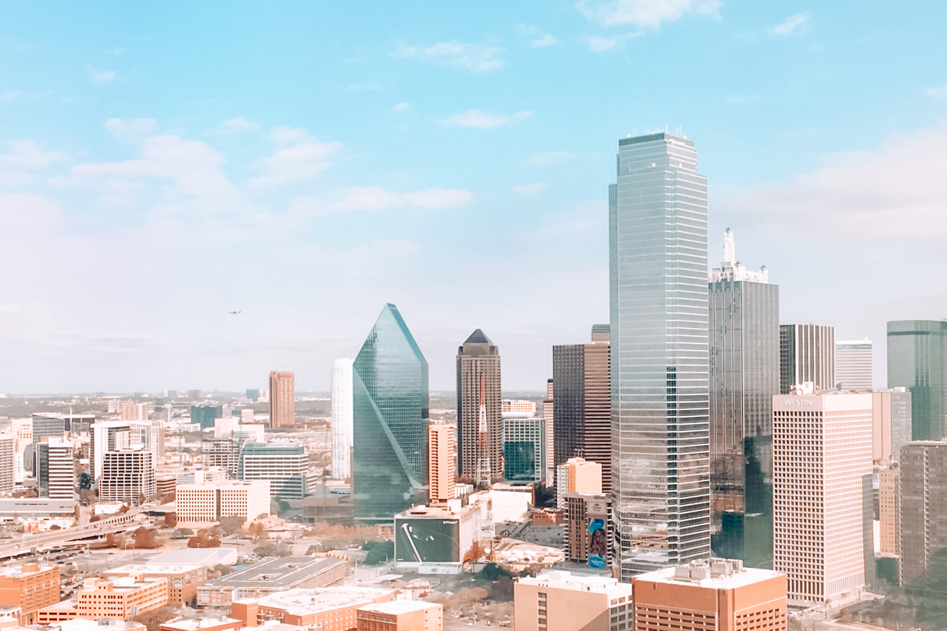 Buildings in the center of Dallas