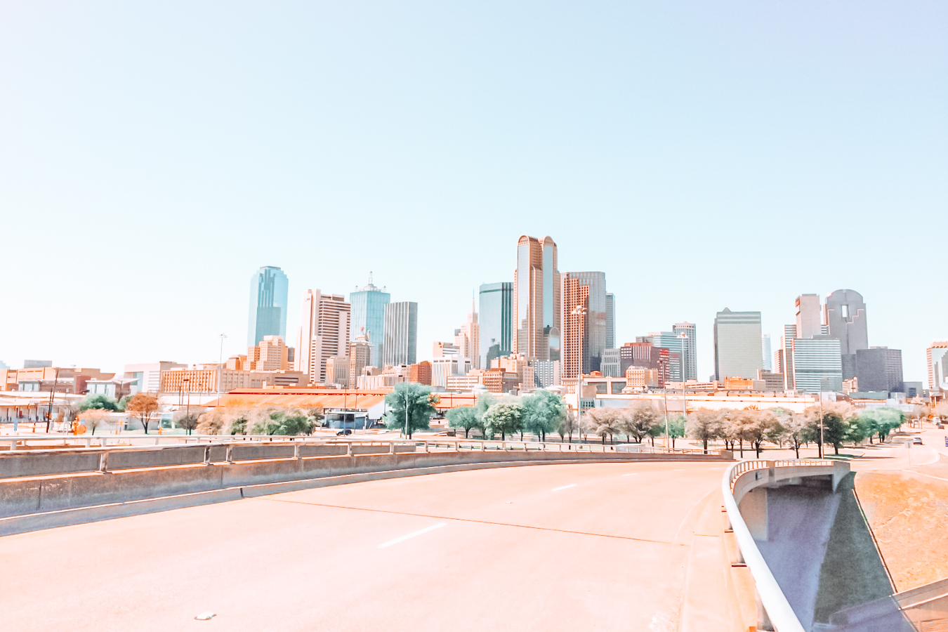 Road and buildings in Dallas