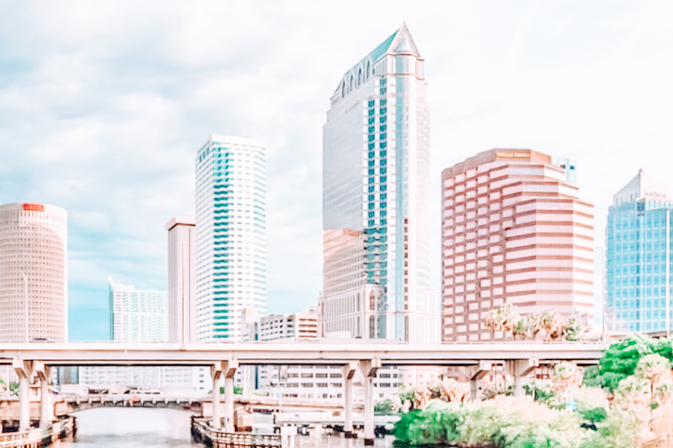 A view of buildings in Tampa