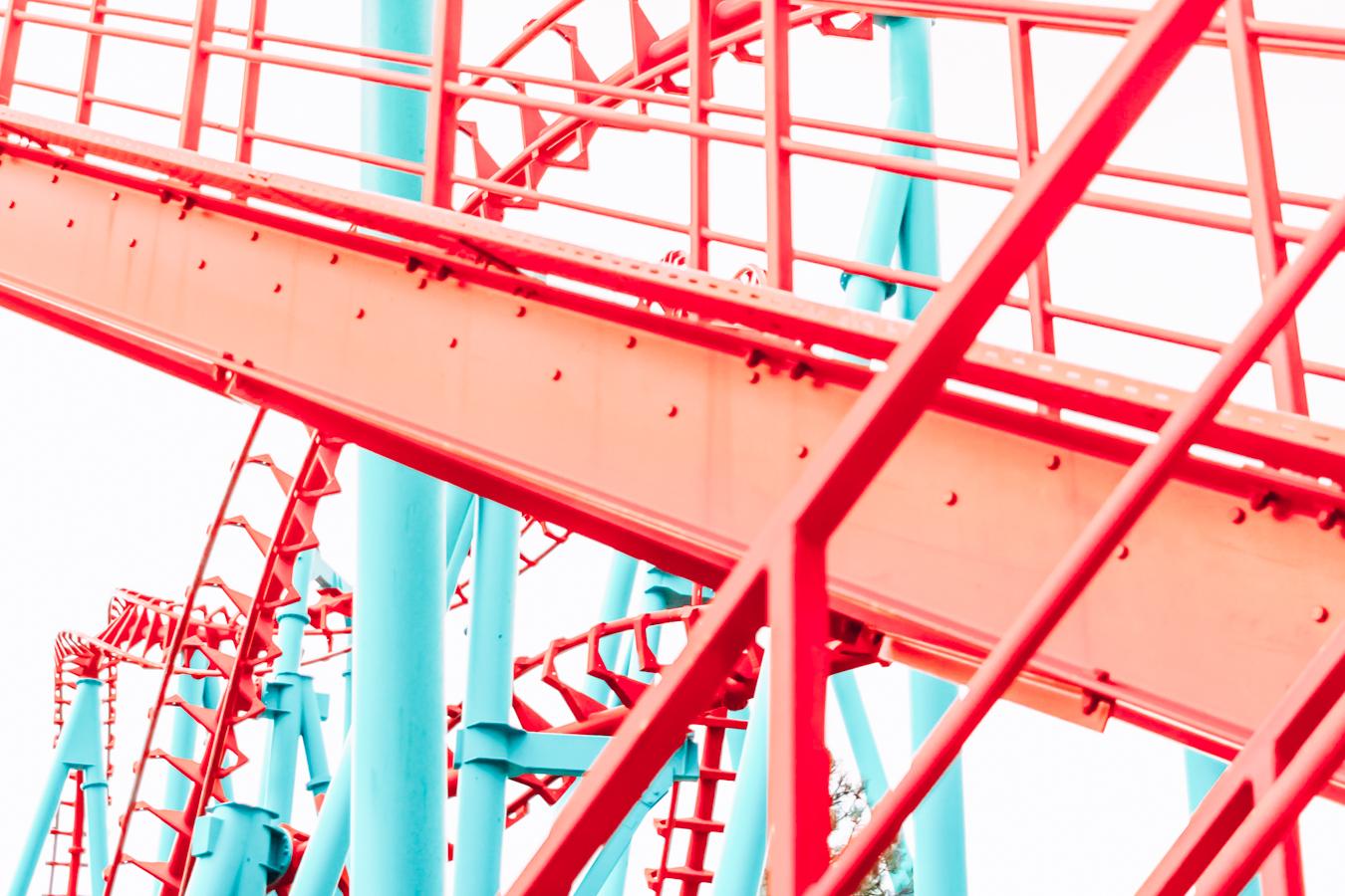 Roller coaster at Elitch Gardens