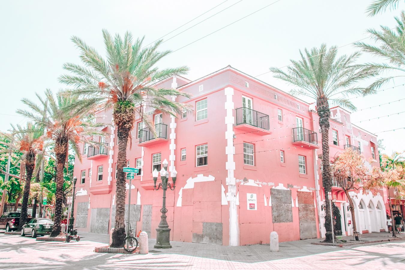 Pink house in Little Havana in Miami